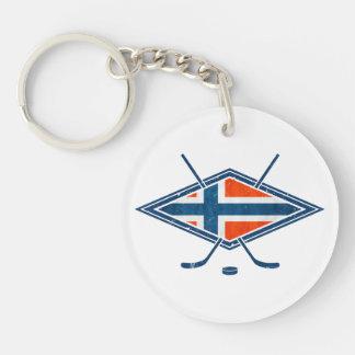 Logotipo del hockey sobre hielo de Noruega Norge Llavero