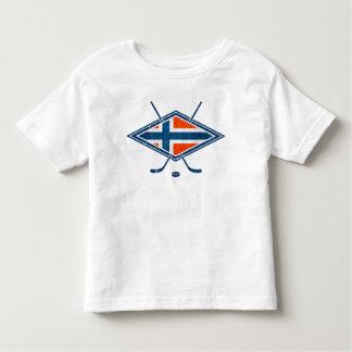 Logotipo del hockey sobre hielo de Noruega Norge Playera De Bebé