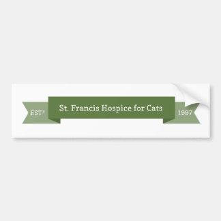 Logotipo del hospicio de St Francis Etiqueta De Parachoque