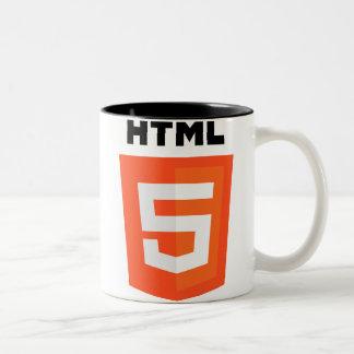 Logotipo del HTML 5 Taza Dos Tonos