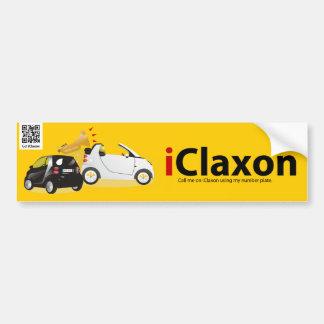 logotipo del iClaxon Pegatina De Parachoque