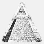 logotipo del illuminati pegatina de triangulo personalizadas