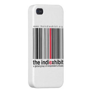 logotipo del indiExhibit iPhone 4 Protectores