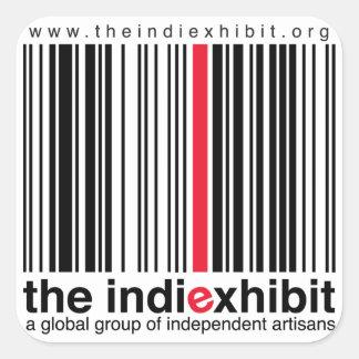 logotipo del indiExhibit Pegatina Cuadrada