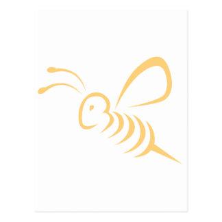 Logotipo del insecto de la abeja del vuelo tarjeta postal