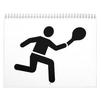 Logotipo del jugador de tenis calendarios de pared
