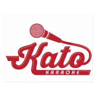 Logotipo del Karaoke de Kato Tarjetas Postales