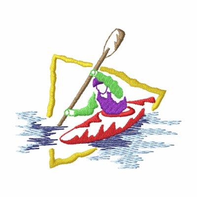 Logotipo del Kayaker Sudaderas Bordadas Con Capuchas