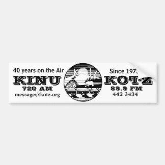 logotipo del kotz 40 años en el aire pegatina de parachoque