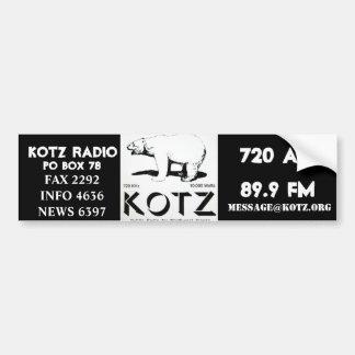 logotipo del kotz etiqueta de parachoque