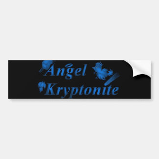 Logotipo del kryptonite del ángel etiqueta de parachoque