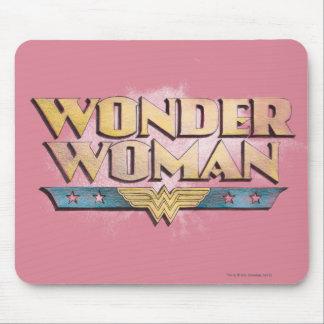 Logotipo del lápiz de la Mujer Maravilla Alfombrilla De Raton