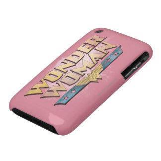 Logotipo del lápiz de la Mujer Maravilla Case-Mate iPhone 3 Carcasa