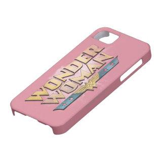 Logotipo del lápiz de la Mujer Maravilla iPhone 5 Cárcasas