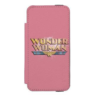 Logotipo del lápiz de la Mujer Maravilla Funda Billetera Para iPhone 5 Watson