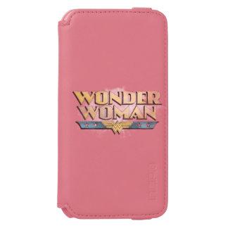 Logotipo del lápiz de la Mujer Maravilla Funda Billetera Para iPhone 6 Watson