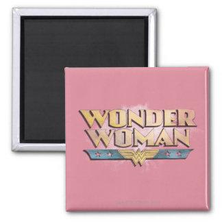 Logotipo del lápiz de la Mujer Maravilla Imán Cuadrado