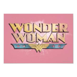 Logotipo del lápiz de la Mujer Maravilla Invitación 12,7 X 17,8 Cm