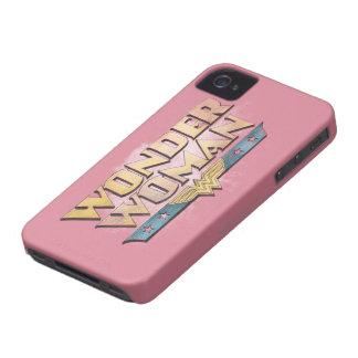Logotipo del lápiz de la Mujer Maravilla iPhone 4 Case-Mate Coberturas