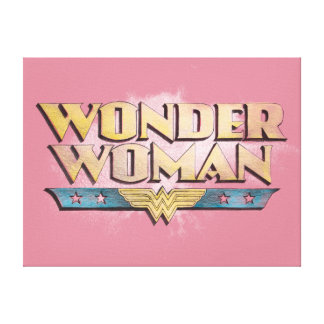 Logotipo del lápiz de la Mujer Maravilla Lona Estirada Galerías
