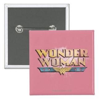 Logotipo del lápiz de la Mujer Maravilla Pin Cuadrado