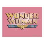 Logotipo del lápiz de la Mujer Maravilla Postal