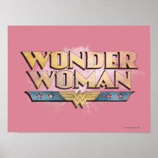 Logotipo del lápiz de la Mujer Maravilla Póster