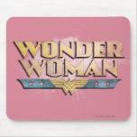 Logotipo del lápiz de la Mujer Maravilla Tapetes De Raton
