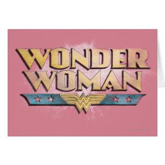 Logotipo del lápiz de la Mujer Maravilla Tarjeta De Felicitación