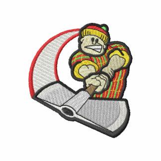 Logotipo del leñador sudadera bordada