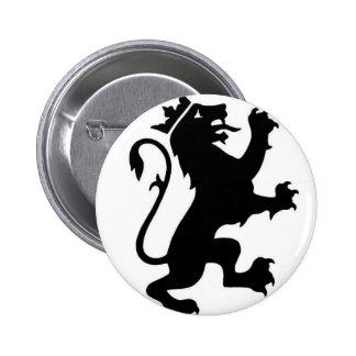 Logotipo del león pin redondo de 2 pulgadas