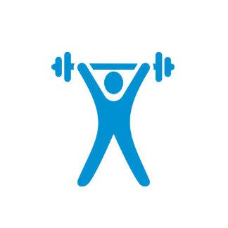 Logotipo del levantamiento de pesas calendario de pared