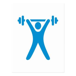 Logotipo del levantamiento de pesas tarjeta postal