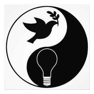 Logotipo del Libertarianism que acentúa paz y la i Arte Fotografico