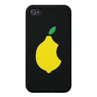 logotipo del limón del arte de iPod iPhone 4 Carcasas