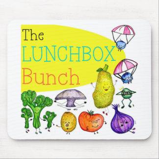 Logotipo del manojo de la caja del almuerzo alfombrillas de ratones