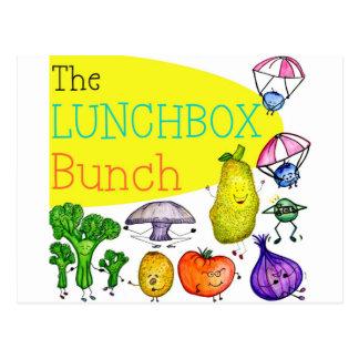Logotipo del manojo de la caja del almuerzo tarjetas postales