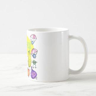 Logotipo del manojo de la caja del almuerzo tazas de café