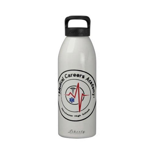 Logotipo del MCA del MHS redondo Botella De Agua
