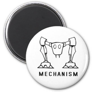 Logotipo del mecanismo imán redondo 5 cm