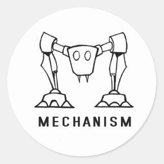 Logotipo del mecanismo pegatina redonda