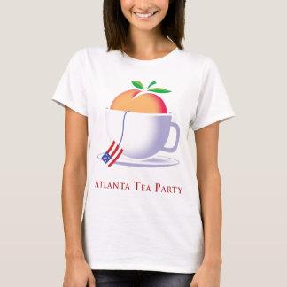 Logotipo del melocotón de la fiesta del té de ATL Playera