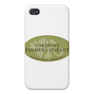 Logotipo del mercado de los granjeros de Oakmont iPhone 4 Protectores