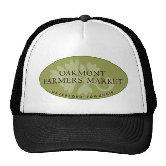 Logotipo del mercado de los granjeros de Oakmont Gorras De Camionero