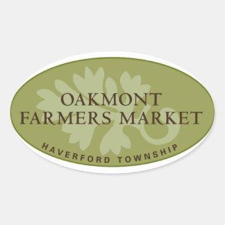 Logotipo del mercado de los granjeros de Oakmont Colcomanias Ovaladas Personalizadas