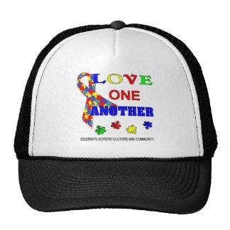 Logotipo del mes de la conciencia del autismo gorras
