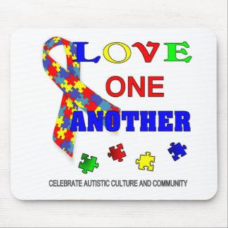 Logotipo del mes de la conciencia del autismo tapete de ratones