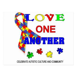 Logotipo del mes de la conciencia del autismo tarjetas postales