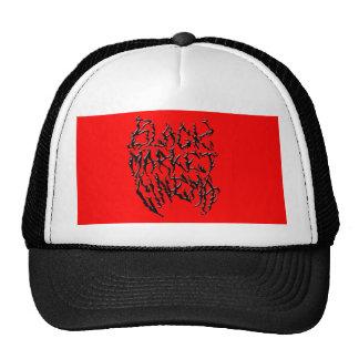 Logotipo del metal de la muerte del mercado negro gorra