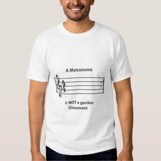 Logotipo del metrónomo camisas